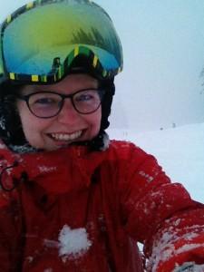 Den første sne-selfie taget d. 11. januar, hvor drengene igen er kørt fra mig.