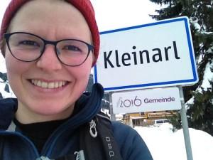 Selfie-tid ved ankomsten til Kleinarl.